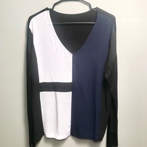 I Jeans By Buffalo Color-Block Sleeveless Top